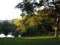 Genieten van de zon in het Ørstedsparken