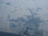 Besneeuwd landschap, Nederland, Emden