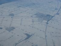 Besneeuwd landschap, Nederland, Noordoostpolder