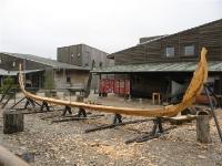 Viking schip in aanbouw (Roskilde viking museum)
