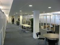 Nieuw kantoor, centrale gemeenschappelijke ruimte