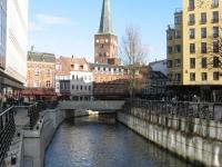 Aarhus centrum met riviertje